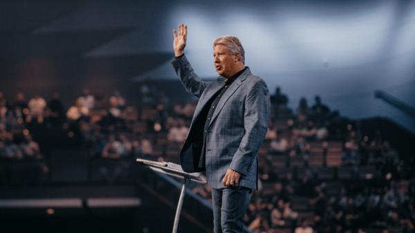Pastor Robert preaching